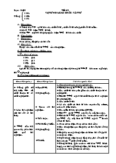 Giáo án Vật lí 11 - Tiết 52 - Sự từ hóa các chất. Sắt từ