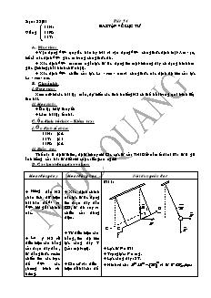 Giáo án Vật lí 11 - Tiết 54 - Bài tập về lực từ