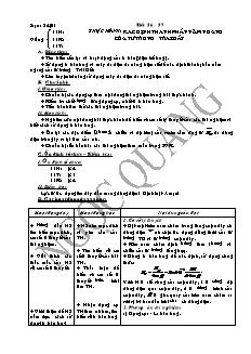 Giáo án Vật lí 11 - Tiết 56, 57 - Thực hành: xác định thành phần nằm ngang của từ trường trái đất