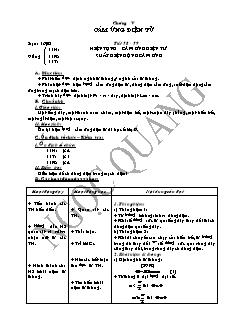 Giáo án Vật lí 11 - Tiết 58, 59 - Hiện tượng cảm ứng điện từ suất điện động cảm ứng