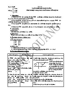 Giáo án Vật lí 11 - Tiết 60 - Suất điện động cảm ứng trong một đoạn dây dẫn chuyển động